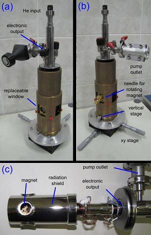 Optical cryostat with permanent magnet